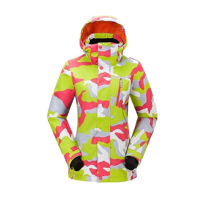 Xinvision Chaqueta de Esquí Mujeres - Abrigo de Invierno con Capucha, A Prueba de Viento