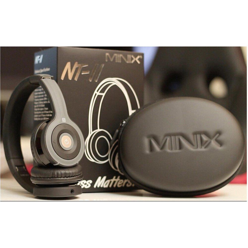 MINIX NT-II Bluetooth Auricular estéreo con NFC juego de auriculares Micrófono para Reproductor de MP3 Tablet PC para Iphone Samsung: Amazon.es: Electrónica