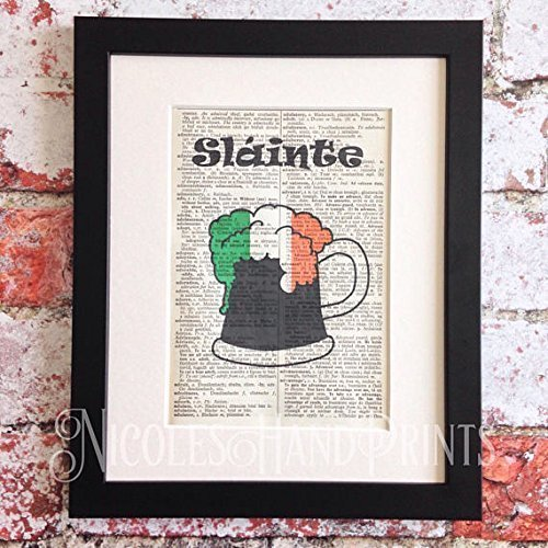 Beer gifts for men fathers day gift for dad slainte irish toast beer gifts for men fathers day gift for dad slainte irish toast book quote print for husband grandad boyfriend brother son irish flag beer m4hsunfo