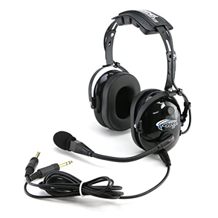 amazon com rugged air ra200 general aviation pilot headset with