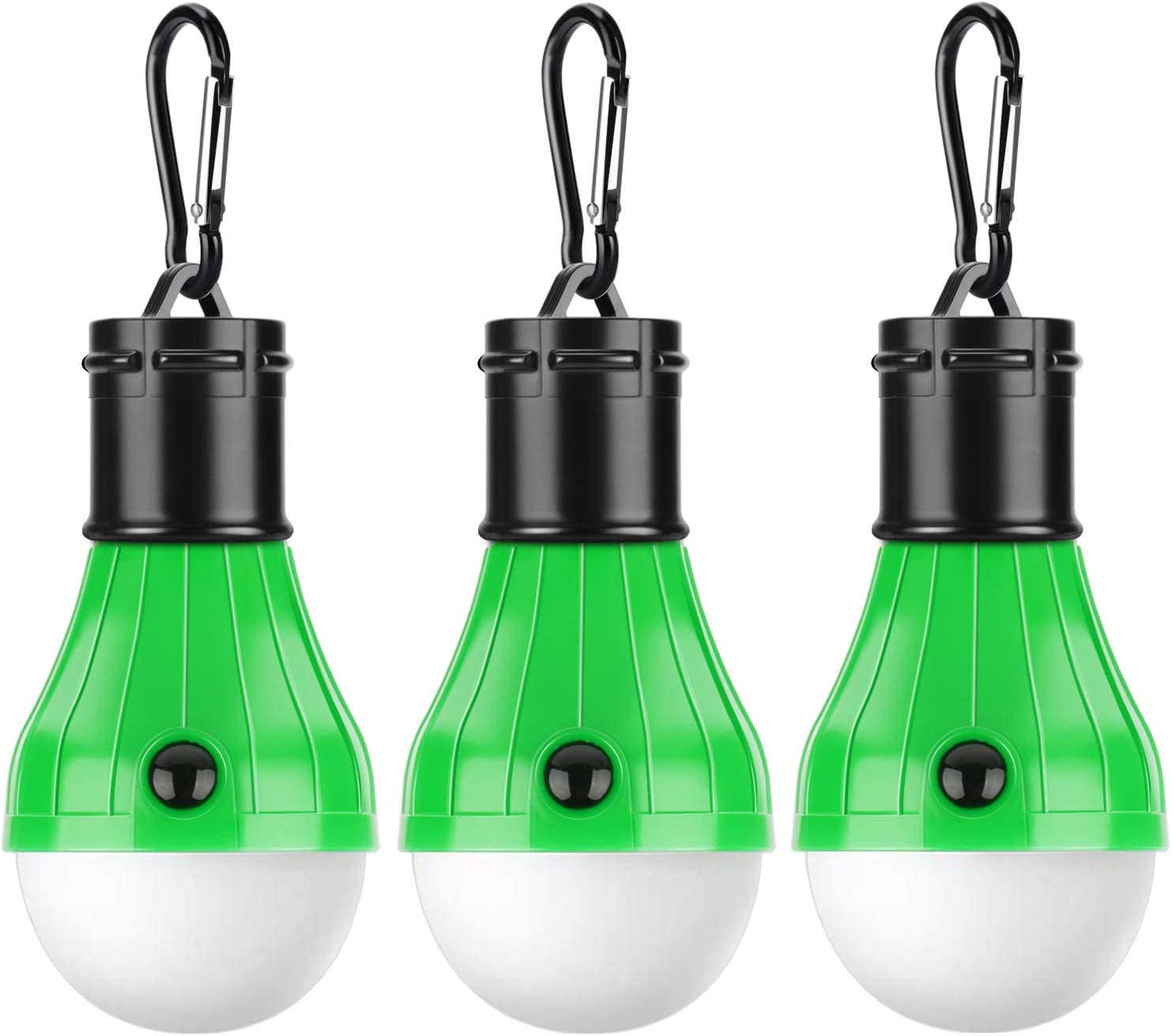 PEMOTech [3 Pack] Tent LED Light, Waterproof Camping Lights for Tents Portable Camping Light Bulb Battery Operated Emergency Light Tent Lamp Lantern