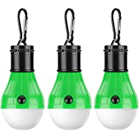 PEMOTech [3 Pack Tent LED Light, Waterproof Camping Lights for Tents Portable Camping Light Bulb Battery Operated Emergency Light Tent Lamp Lantern for Camping Hiking Fishing Hunting Mountaineering