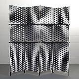 Divisorio a forma di paravento, pieghevole, XTRADEFACTORY, colore: nero/bianco