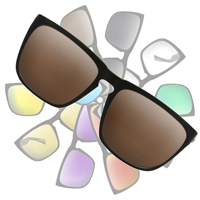 0554036898a Amazon.com  Dark Brown Replacement Lenses for Electric Knoxville XL ...