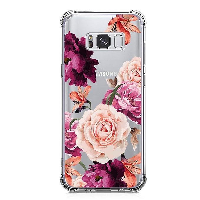 KIOMY - Carcasa para Samsung Galaxy S8, diseño de Flores y ...