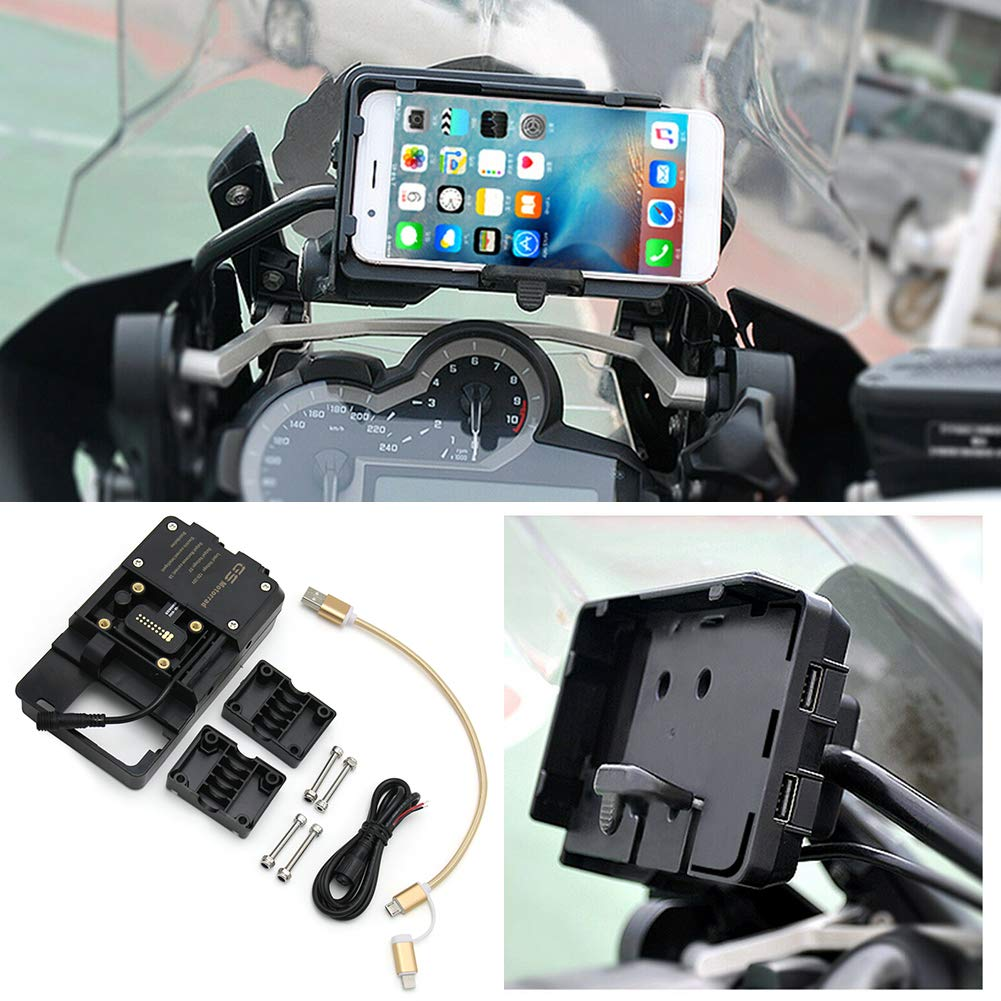 Elliot Jonah Mobile Phone Navigation Bracket with USB Charger For for BMW R1200GS Honda F700 800GS CRF1000L by Elliot Jonah
