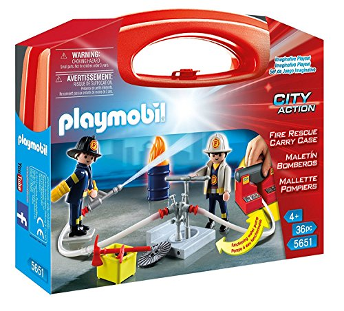 PLAYMOBIL Fire Rescue Carry Case (Clicks Playmobil)