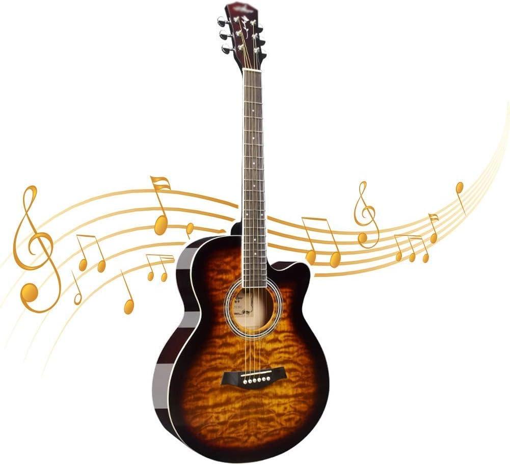 Pop de la gente de la guitarra, Claro ne completamente cerrada Acorde butn ajustable acorde P Principiante Estudiante masculino y femenino principiantes Práctica de la guitarra de madera (Color: Rojo,