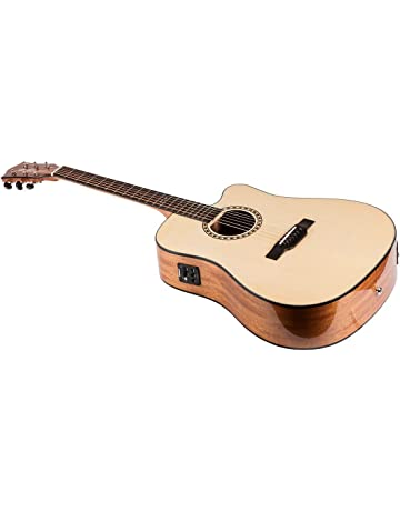 Monoprice Idyllwild Spruce Solid Top Acoustic Electric Guitar with Fishman Pickup Tuner and Gig Bag