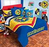 CLUB AGUILAS DEL AMERICA MEXICAN FOOTBALL ORIGINAL LCENSED COMFORTER SET AND SHEET SET 6 PCS TWIN SIZE
