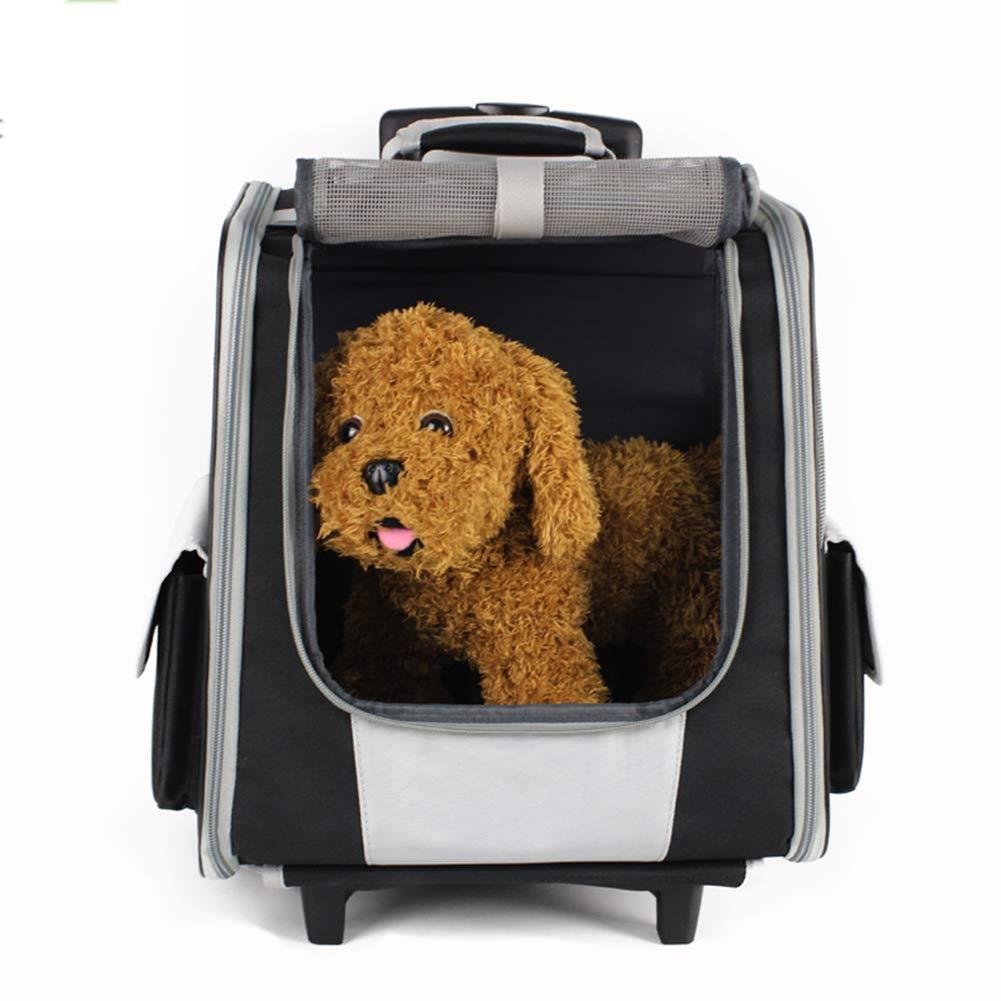 XDYFF Trasportino per Animali Domestici Carrello Pull bagbag da Viaggio all'aperto Comodo Zaino con Due Spalle