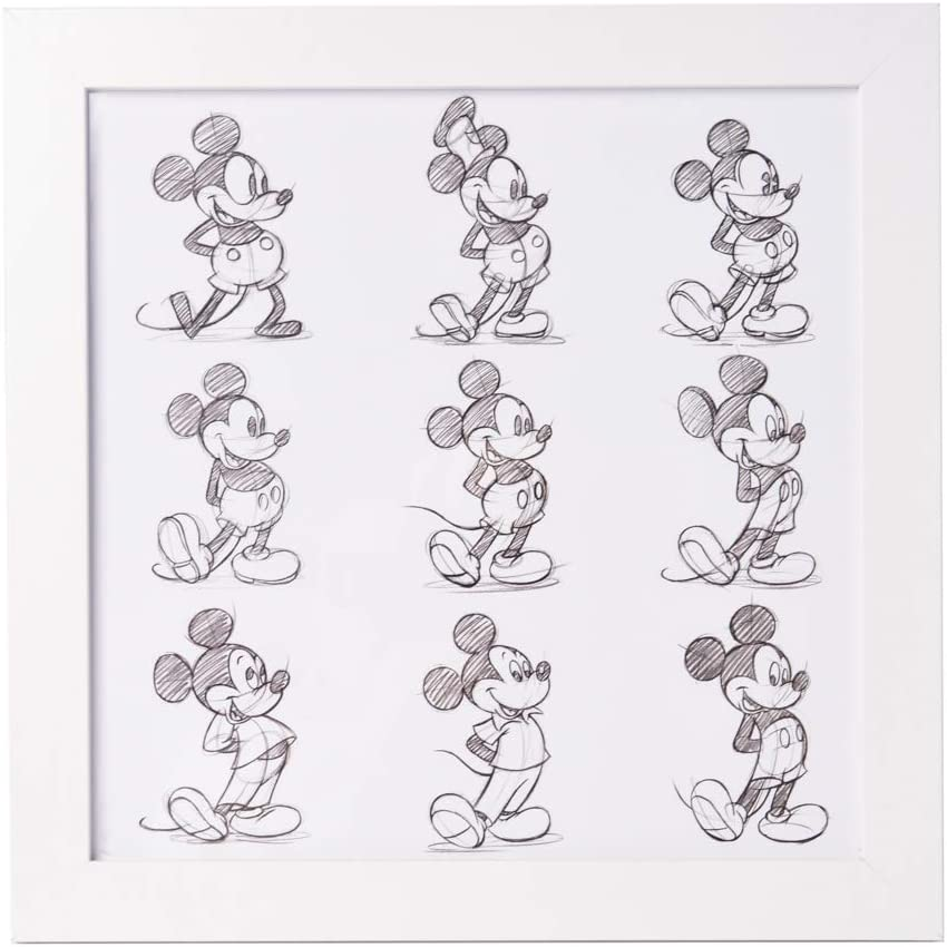 Grupo Erik Cuadro Infantil Disney Mickey Sketch, 30X30 Cm