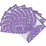 Hollow Cut Butterfly Floral Hollow Wedding Invitations Cards Set for Wedding Engagement Bridal Shower,Purple, 10 PCS