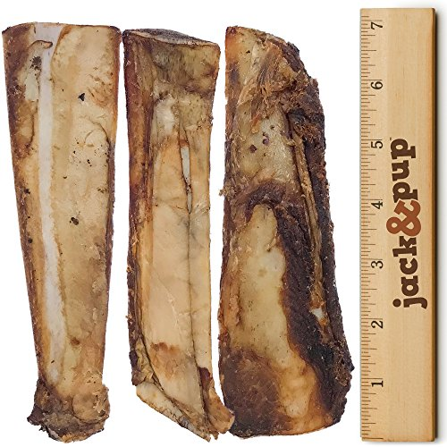 Jack Pup Premium Grade Roasted Beef Ribs Dog Bone Treats 8 Pack 7 Long All Natural Gourmet Dog Treat Chews Savory Smoked Beef Flavor