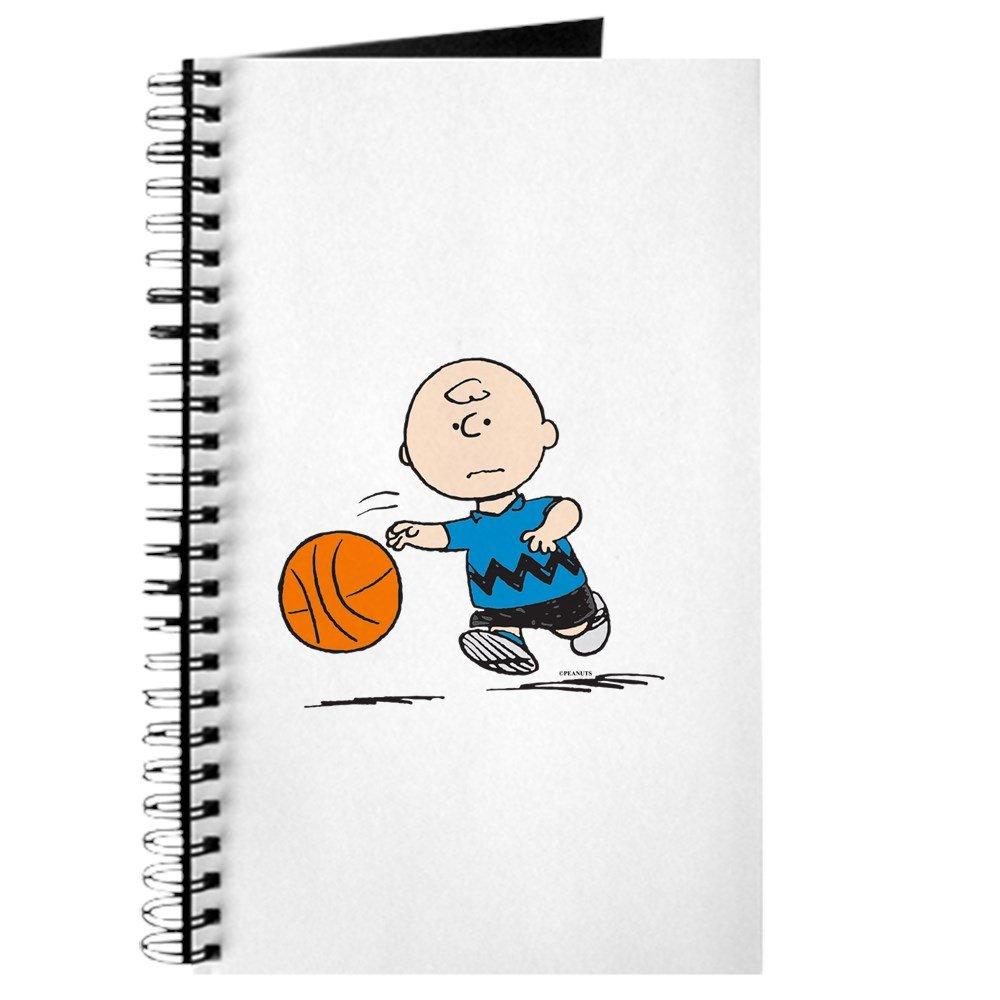 CafePress - Diario de baloncesto marrón con espiral, cuaderno ...
