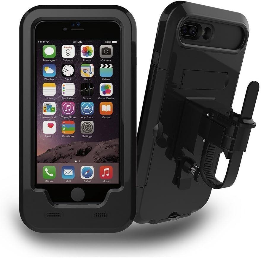 iPhone 6/6S Plus Soporte Para Bicicleta, JEMACHE Bicicleta/Moto de Soporte Impermeable Funda Para iPhone 6/6S Plus