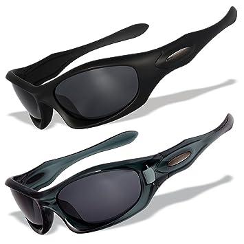 2 gafas de sol deportivas con lentes polarizados y marcos originales [MD], MD11+MD15