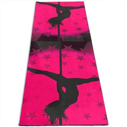 Amazon.com: Sexy Pole Dance Star Pink Printed Yoga Mat Prana ...