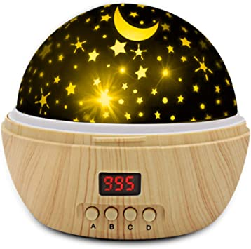 Star Projector, Gifts for 1 2 3 4 5-7 8-10 11 Years Old Boys Girls, Star Light Projector with Timer(5-999min), Color Changing Stars Night Light for Children Bedroom Baby Gift Toy Birthday Party Decor