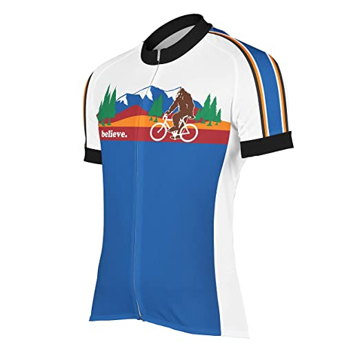 Amazon.com  Peak 1 Sports Bigfoot Men s Cycling Jersey Blue  Clothing 9e6bb3d9c