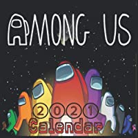"""Image for Among us: among us characters """"8.5x8.5"""" Inch Wall 2021 Calendar Cute Glossy Cover"""