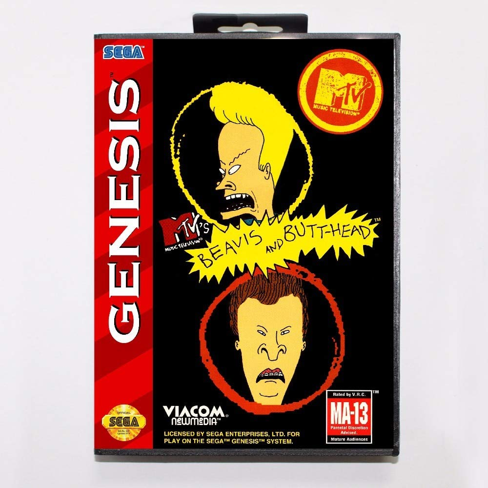 ROMGame Beavis & Butthead Game Cartridge 16 Bit Md Game Card With Retail Box For Sega Mega Drive For Genesis