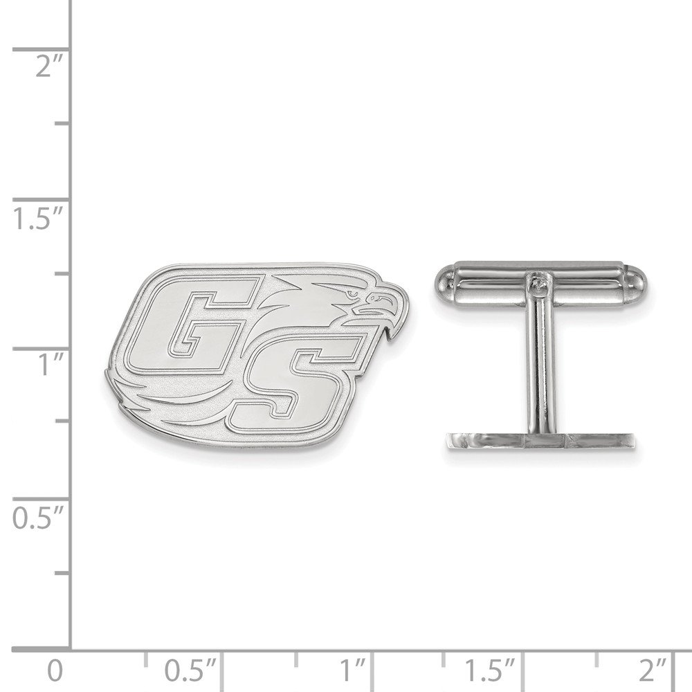 Jewel Tie 925 Sterling Silver Georgia Southern University Cuff Link