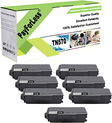 8PK TN650 Black Toner Cartridge Compatible For Brother HL-5370DW Printer