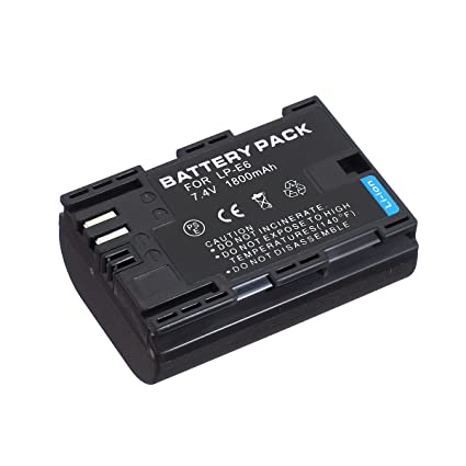 Amazon com : Battery Pack for Canon XC10, XC15, EOS R, EOS