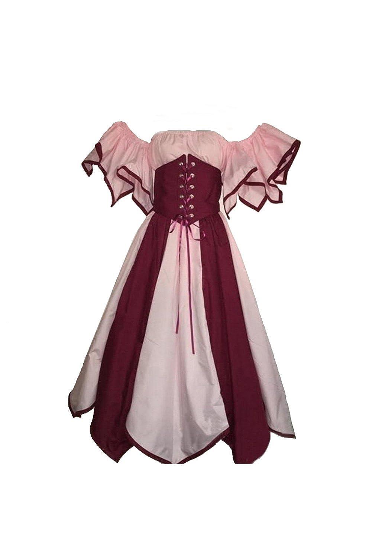 Femmes Robe medievale Victorienne Halloween Costume Deguisements Mariee Gothique Robe de Renaissance Joyplay