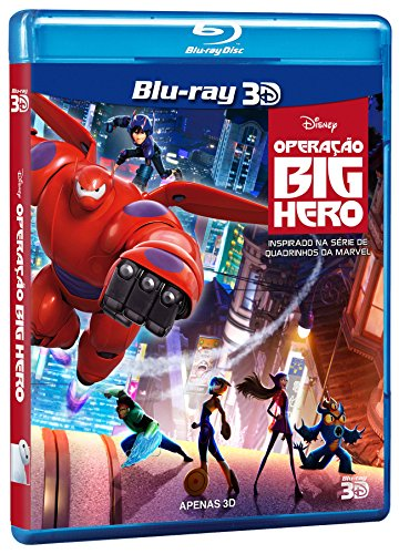 Blu-ray 3D Operação Big Hero [ Big Hero 6 ] [ English + Brazilian Portuguese + Cantonese + Mandarin + Korean + Thai] [ Region A~ (Six Blu Ray Big Dvd Hero)