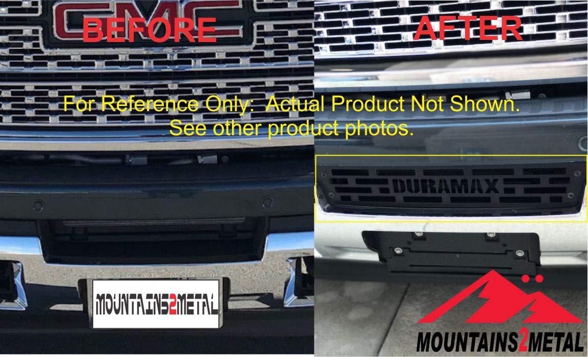 Mountains2Metal Bumper Grille Insert 2015-2019 Sierra 2500 3500 HD Plain Rectangular Pattern
