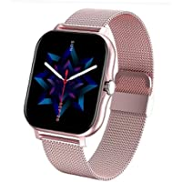 Full Touch Smart Watch, Activity Fitness Tracking Stappenteller, met slimme melding, roze, draagbare apparaat
