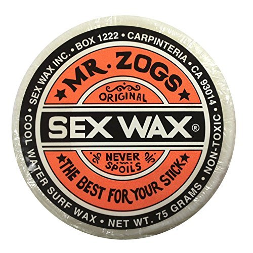 Mr. Zogs Original Sexwax - Cool Water Temperature Coconut Scented (White) (Sex Wax Sticker)