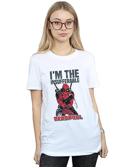 Marvel Mujer Deadpool Im The Insufferable Camiseta del Novio Fit: Amazon.es: Ropa y accesorios