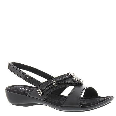 250a34a1411 Minnetonka Silvie Slingback Women s Sandal 5 B(M) US Black-Black