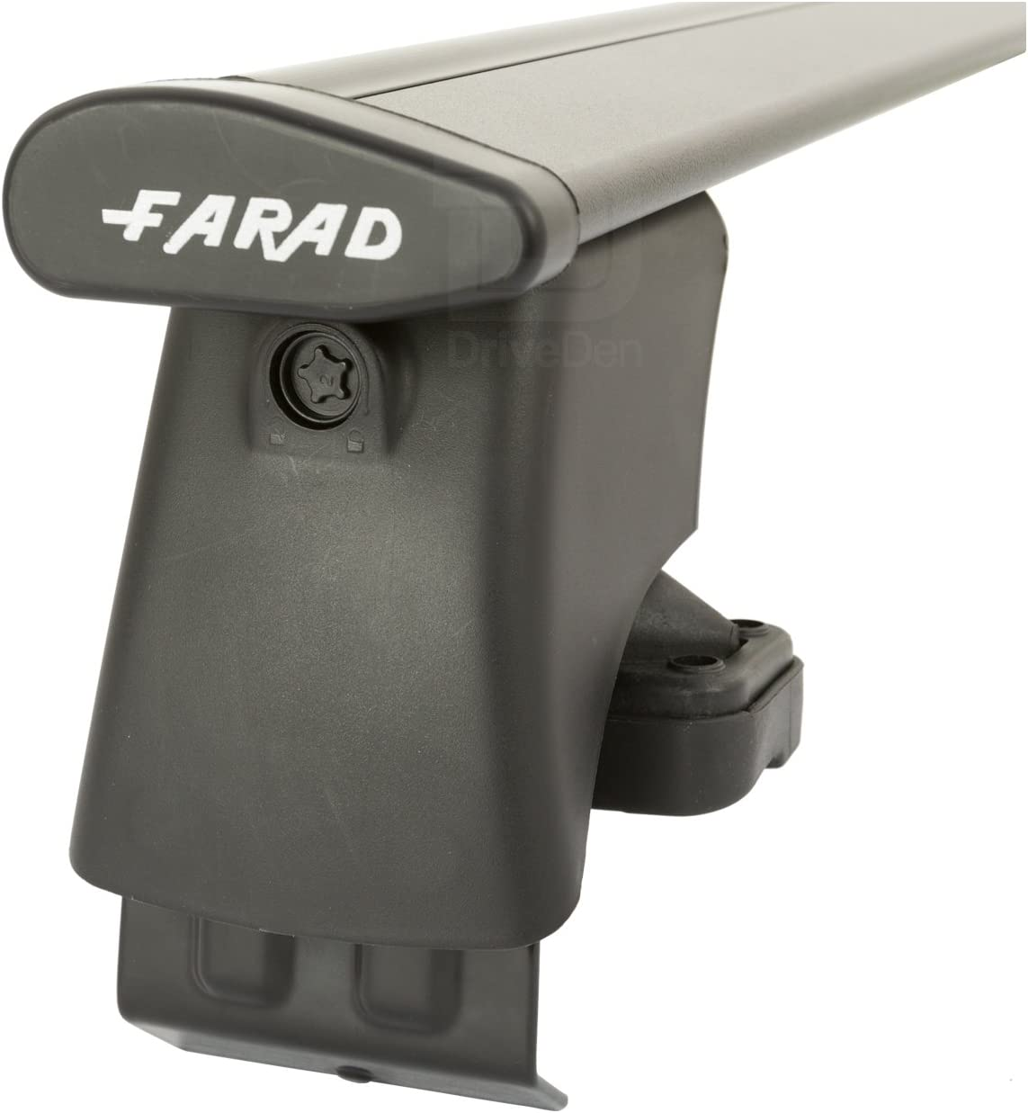 Farad Pro FA-ALUBLK-447 Aluminium Black Wing Roof Bar Set Normal Roof