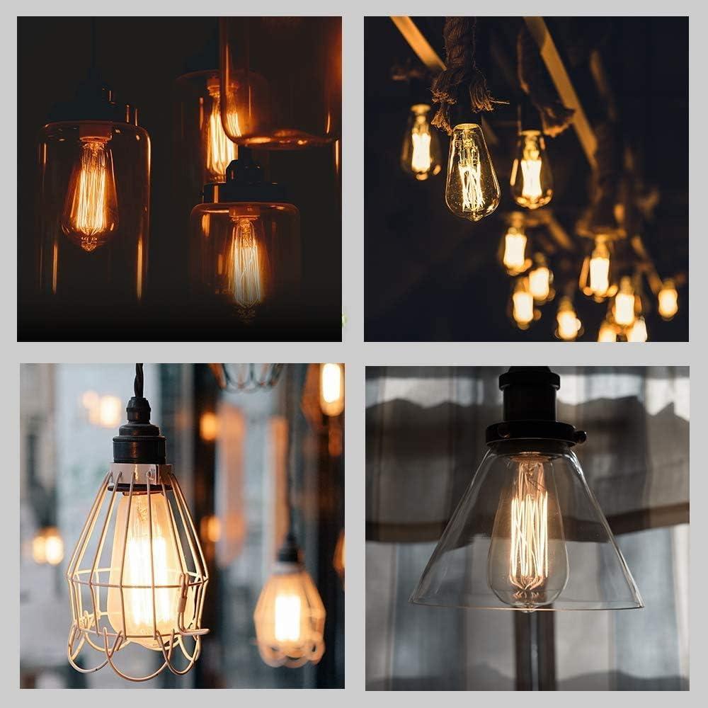 Gogotool E27 40W dimmbar Antike Retro Filament Lampe ST64 Ideal f/ür Nostalgie und Retro Beleuchtung im Haus Caf/é Bar usw Edison Vintage Gl/ühbirne 1 St/ück