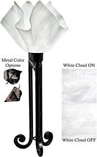 product image for Jezebel Radiance Torch Light. Hardware: Black. Glass: White Cloud, Flame Style