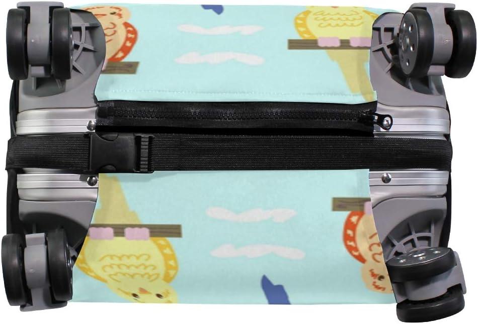 MALPLENA Budgie Sun Pattern Luggage Protector Suitcase Cover