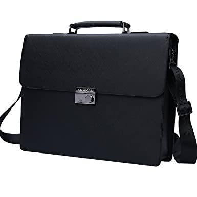 Amazon Com Mens Business Man Bag Lock Leather Briefcase For Man