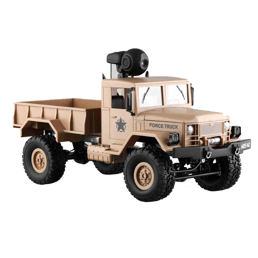 RC Military Truck Army With WIFI 720P Camera 1:16 4WD Off-Road Car RTR APP Control ,Racing Vehicles Car Toy Track Cars Toys Birthday Gift for Kids Toddlers Boys,Car Toys for 1 Year Old (Yellow) by DICPOLIA (Image #7)