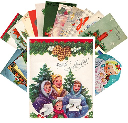 Vintage Christmas Greeting Cards 24pcs Merry Christmas And Happy New Year REPRINT Postcard Pack