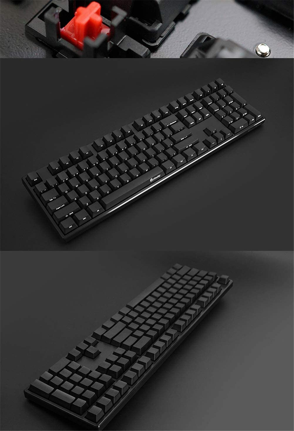 PNCS Mechanical Keyboard Silent axis Silent Game Esports Wired Backlit Computer red axis//Black axis Hybrid QWERTY Layout Suitable for The Office