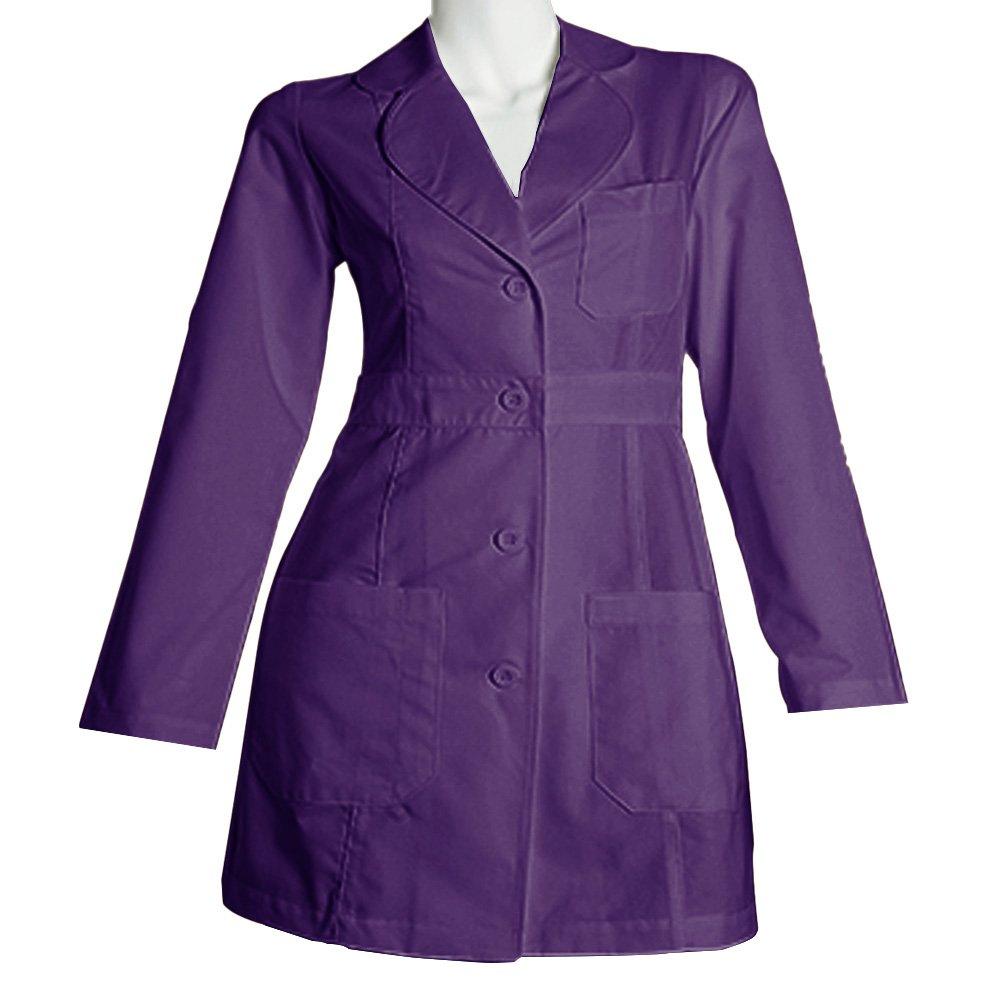 Panda Uniform Made to Order Women's 34 inches Medical Consultation Lab Coat-Purple-L