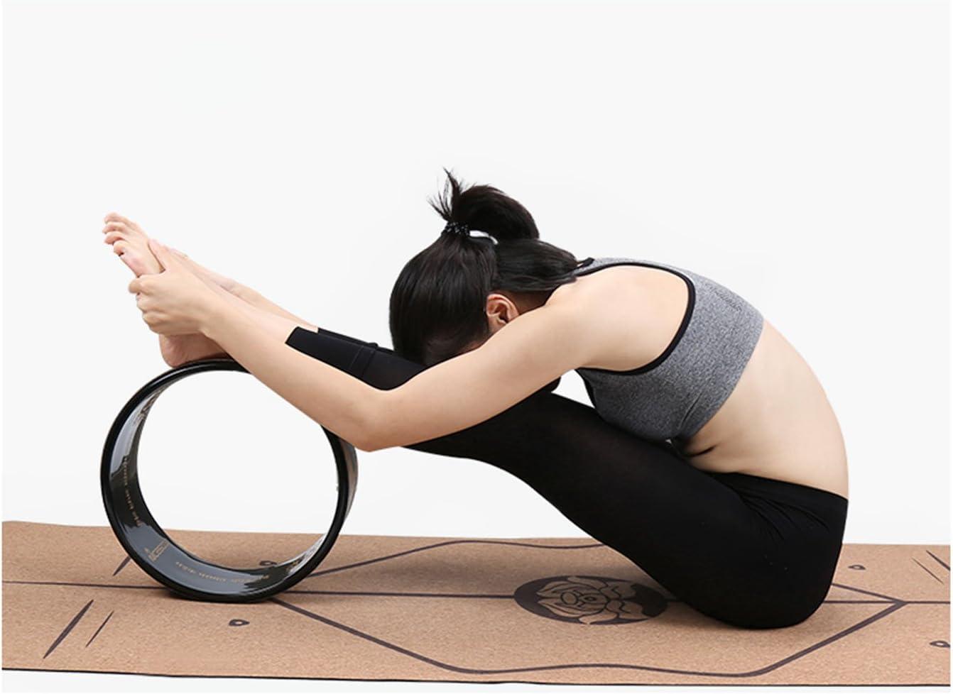 A-Flower Roue Dexercice Noir de Roue de Yoga 32 x 13 cm pour s/étirer Plus Loin avec Le Sac de Roue de Yoga