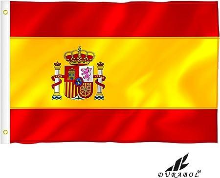 Durabol Bandera de Historia España (España con Escudo Bordado Doble Cara): Amazon.es: Hogar