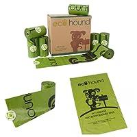 Ecohound Biodegradable Dog Poo Bag Rolls - Dog Waste Bags Leak Proof Unscented (16 Rolls - 240 Bags)