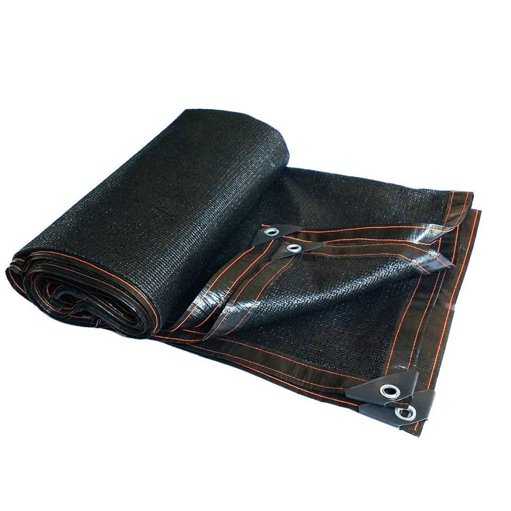 70%バイザー布 ワッシャー付き、納屋の温室または植物カバーのための切口日よけ日よけ,Black_4x9m/12x27ft B07SC8T1W2 Black 4x9m/12x27ft