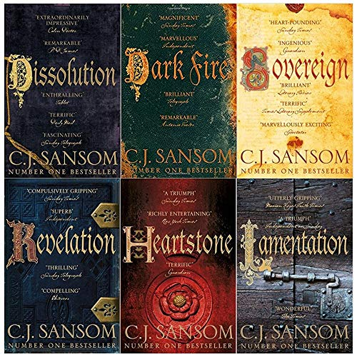 Shardlake series collection c. j. Sansom 6 books set (Dissolution, Dark Fire, Sovereign, Revelation, Heartstone, Lamentation) ()